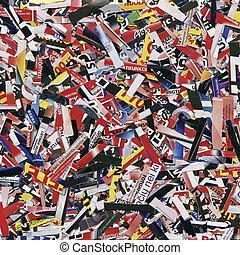 background - Cuts from magazines and flyers