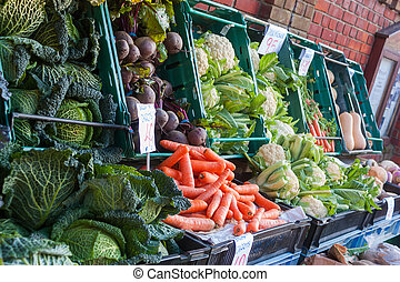 Greengrocers Vegetable Display - Beautiful display of fresh...