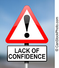 Confidence concept - Illustration depicting red and white...
