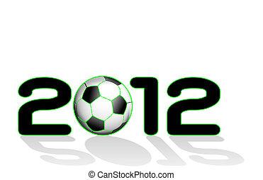 2012 written with soccer ball
