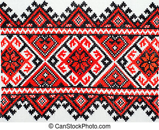 embroidered good by cross-stitch pattern. ukrainian ethnic...