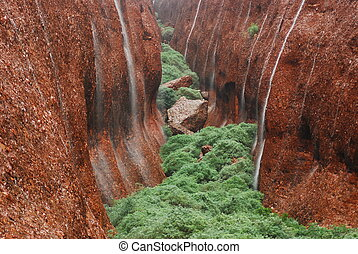 The Olgas in Waterfall - The Olgas, Australia