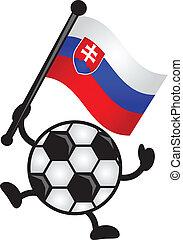 soccer flag - illustration of soccer flag