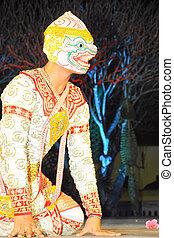 """藝術,  """"khon"""", 跳舞, 跳舞, 叫, 具有歷史意義,  high-class"""