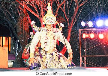 """Dancing art called """"Khon"""", an high-class of historic dance"""