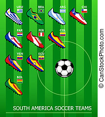 South American soccer teams - South American soccer shoes in...