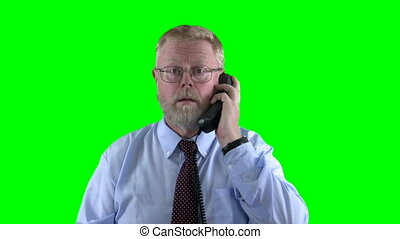 Upset on the phone - Upset businessman on the phone -...