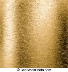 Brushed gold metal plate - Brushed gold metal background or...