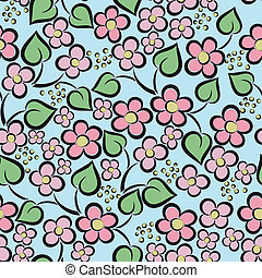 Seamless pink flowers