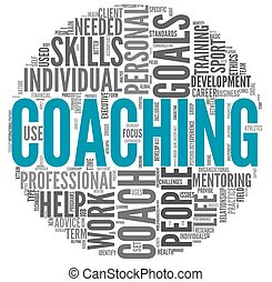 Coaching concept in tag cloud - Coaching concept related...