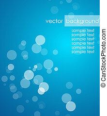 Blue deep background - Vector illustration for your design