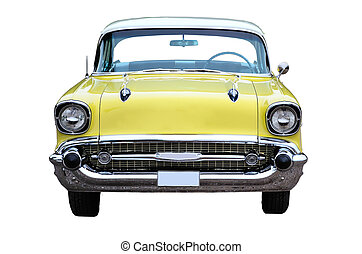 Yellow Chevrolet - Yellow chevrolet belair station wagon...