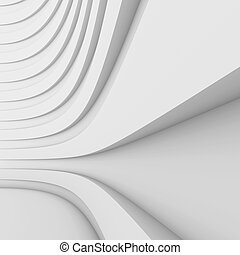 Modern Architecture Background - 3d Illustration of Modern...