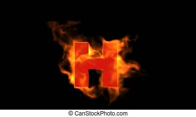 fire letter H,uppercase.