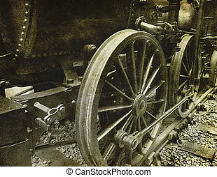 vintage locomotive photograph