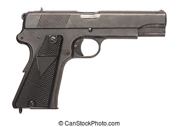 Polish Military Pistol - A Polish 9mm semi-automatic...