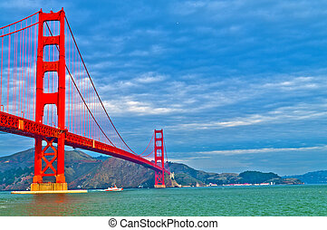 Golden Gate Bridge at Fort Point - Famous Golden Gate Bridge...