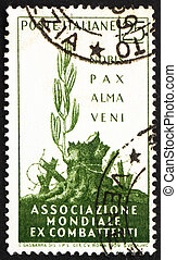 Postage stamp Italy 1959 A Gentle Peace has Come - ITALY -...