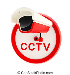 Closed circuit television alert sign - Closed circuit...