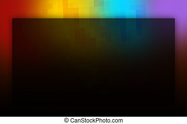 Abstract rainbow colours on a black background