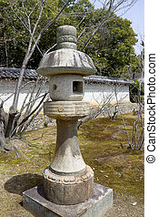 Japanese traditional stone lantern