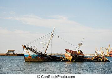 hiszpański, Cielna, statek, Historyczny, wrak