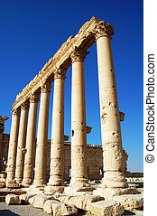 Relics of Palmyra in Syria