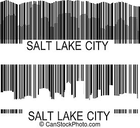 Salt Lake City barcode - City of Salt Lake City high rise...