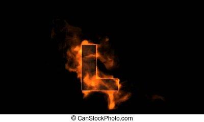 fire letter L