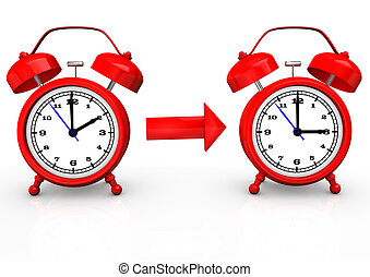 Time Change To Summer Time - Time change to summer time with...