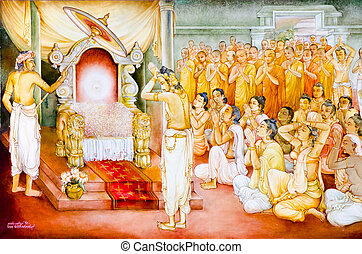 religious painting in a Buddhist temple