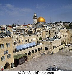 Dome of the Rock in Jerusalem. Old city. The Temple Mount....