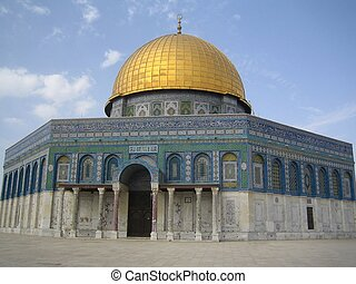 Dome of the Rock in Jerusalem. Old city. The Temple Mount