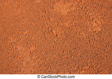 Red soil texture background