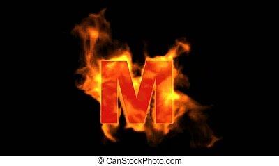 fire letter M.