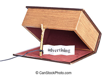 trap, catch - advertising box is installed in the form of...