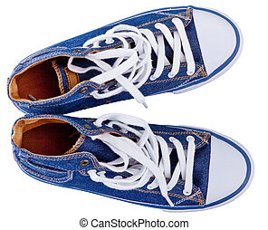 gumshoes, tennis shoes - pair of simple gumshoes ( sneakers...