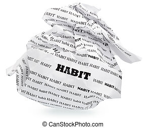 habit of destroying your aspirations - ball of crumpled...
