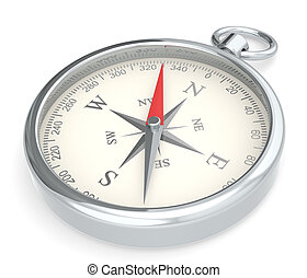 Compass. - Metal Compass on white background.