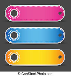 Colorful Tag - illustration of set of colorful tag on white...
