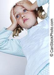 Girls in pajamas surprised - Girls in pajamas amazed puts...