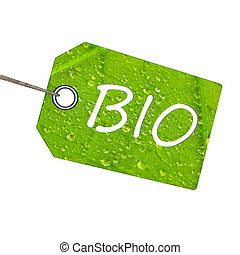 Bio label - Label with biological text and string