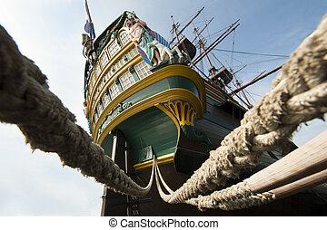 Aft VOC Ship stern tall - Aft VOC tall Ship Amsterdam stern...