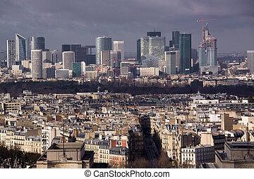 Business quarter in Paris
