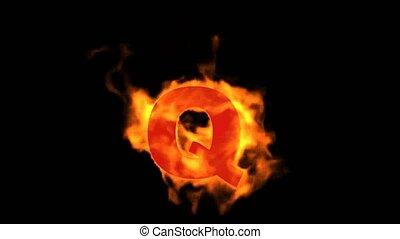 fire letter Q.