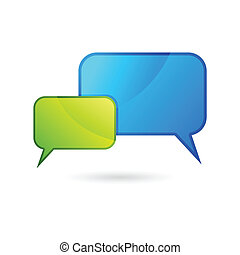 Chat Bubble - illustration of colorful chat bubble on white...