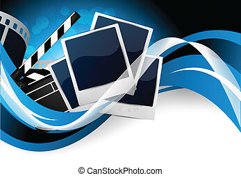 Background with cinema elements