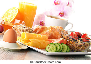 Breakfast on the table