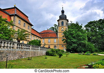 Nature of summer park of Schloss Fasanarie in Fulda, Hessen,...