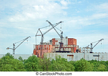 Chernobyl nuclear power station, abandoned construction of...